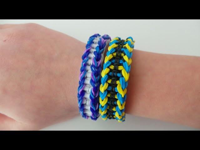 Loom bands auffälliges Schuppen-Armband (deutsche Anleitung)