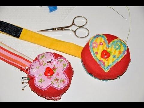 Nähen lernen mit Claudia #12  * Nadelkissen mit Armband & Klettverschluss * Claudia Herzblättchen