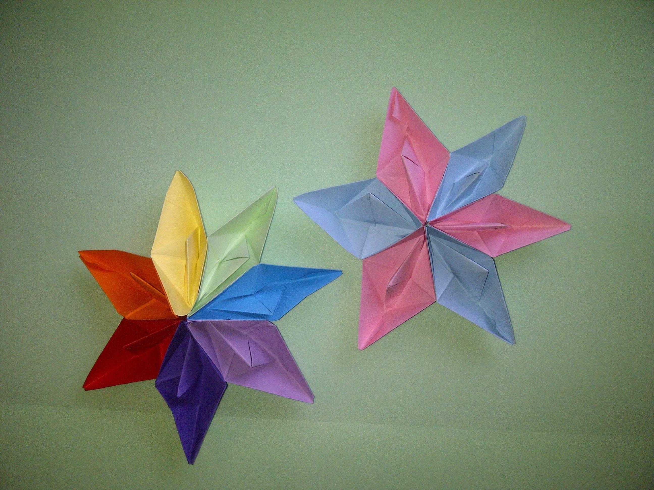 3D Sterne basteln - Weihnachtssterne falten. How To Make A 3D Paper Star