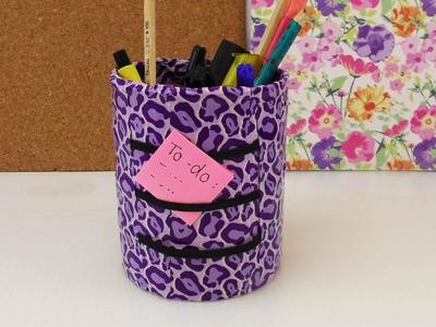 Back to School | Schreibtisch Organisation | Stiftedose aus alt macht neu Recycling Upcycling
