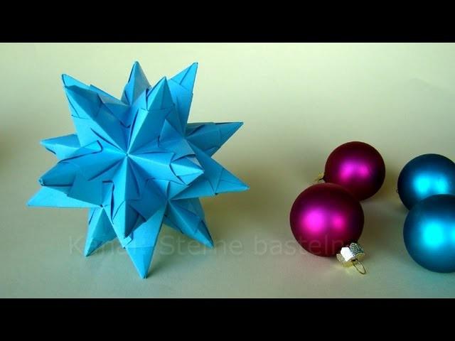 Bascetta Stern Faltanleitung: Stern basteln - Weihnachtssterne - Weihnachtsbasteln
