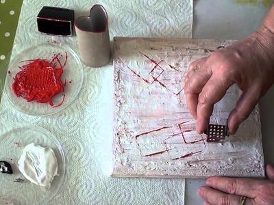 """DIY abstrakt  Acryl,ohne Pinsel mit """"Herz"""" für Anfänger"""