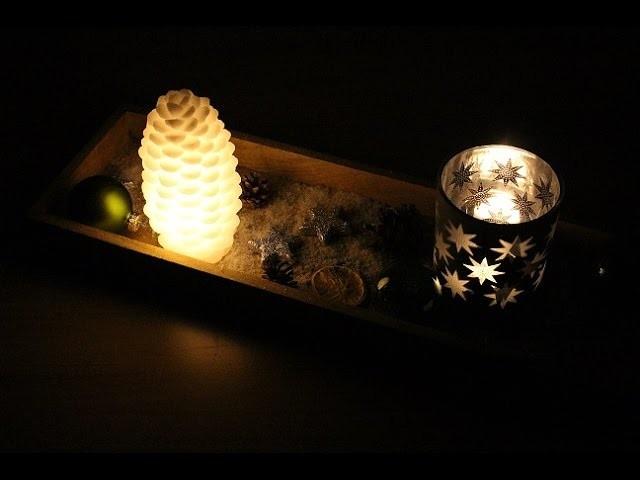 DIY Adventskranz Advents-Tischschmuck selber machen Weihnachten Xmas Dekoration dekorieren
