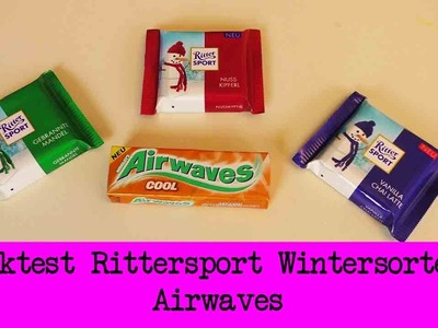 DIY Inspiration Snacktest: Rittersport Wintersorten 2015 & Airwaves COOL | Winter Edition
