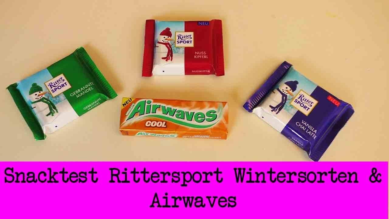 DIY Inspiration Snacktest: Rittersport Wintersorten 2015 & Airwaves COOL | Winter Edition