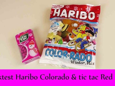 "DIY Inspiration Snacktest: Haribo Color-rado ""Winter Mix"" & TicTac ""Red Berry"" 