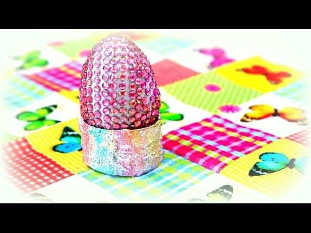 Eierbecher aus papprollen basteln mit kindern diy ideen eierbecher selber gestalten - Eierbecher selber basteln ...