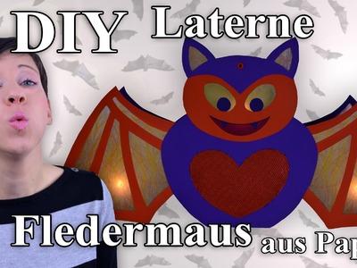 Fledermaus Laterne - Bastelanleitung