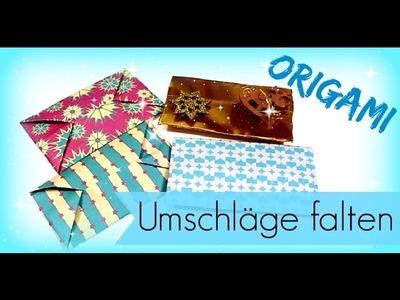 GELDGESCHENKE einpacken ♥ Origami Umschlag selber machen ♥ Bastelideen ♥ DIY Inspiration Tutorial
