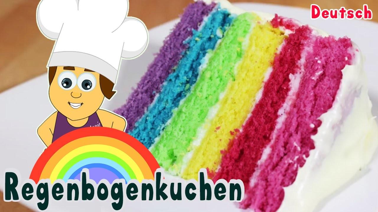 German DIY Rezepte: How To Make Rainbow Cake | Selber Machen Einfach Regenbogenkuchen