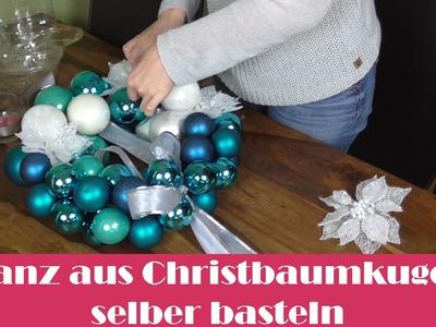 Kranz aus Christbaumkugeln - DIY