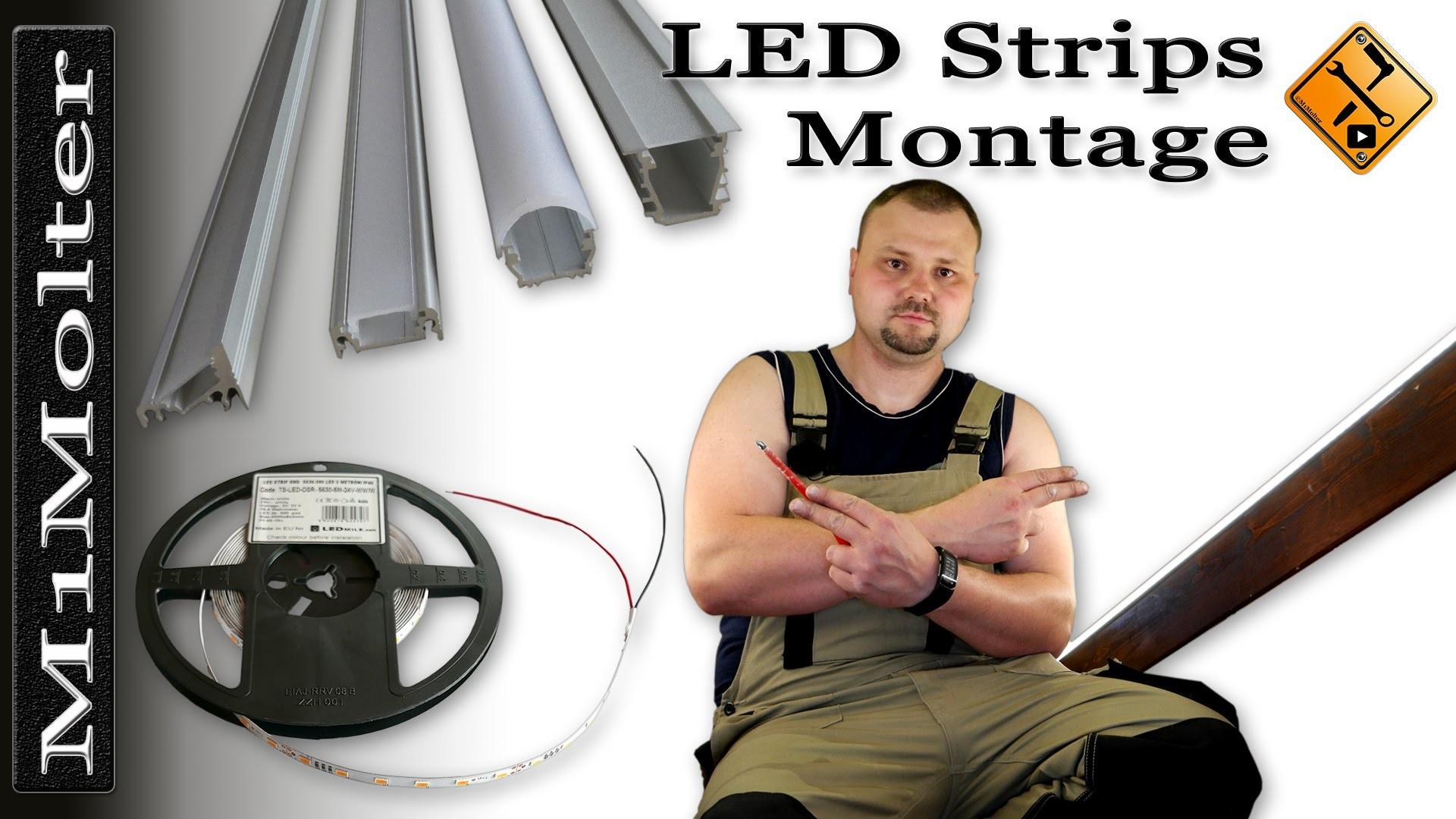 led leisten stripes installation montage von m1molter. Black Bedroom Furniture Sets. Home Design Ideas