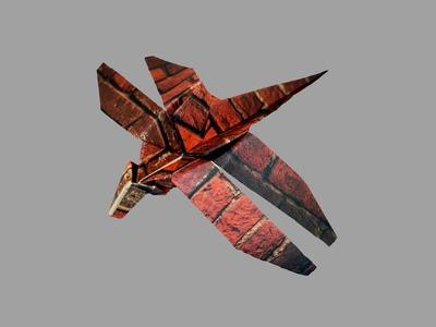 Origami Libelle (Dragonfly) - Faltanleitung (Live erklärt)