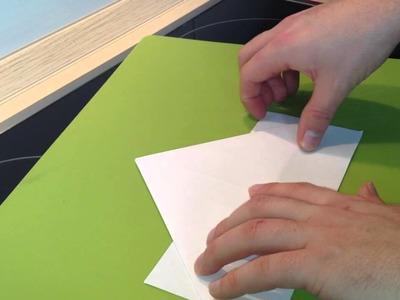 Papierschiff basteln - Schiffchen aus Blatt falten