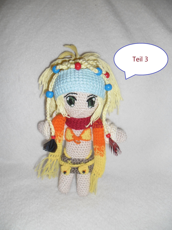 Puppen Häkeln (Final Fantasy Spezial Teil 2 ) Rikku Teil 3