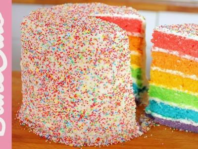 Rainbow Cake (Regenbogenkuchen) | BakeMyDay