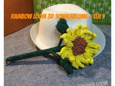 Rainbow Loom 3D Sonnenblume - von Lachtäubchen Loom - Teil 1