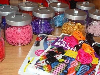 Rainbow Loom Einkauf, Aufbewahrung Gummibänder, Ankündigung Paracord deutsch und DIY