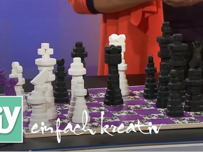 Schachspiel aus Holz | DIY einfach kreativ
