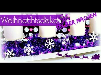 Weihnachtsdeko basteln ♥ modernen Adventskranz selber machen ♥ DIY Inspiration´s Ideen