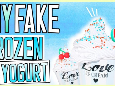 DIY FAKE FROZEN YOGURT! Back to School Room Decor ☀️