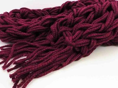 Handstricken Schal - einfachen Schal mit Fransen selber machen - Häkelmuster für Schal