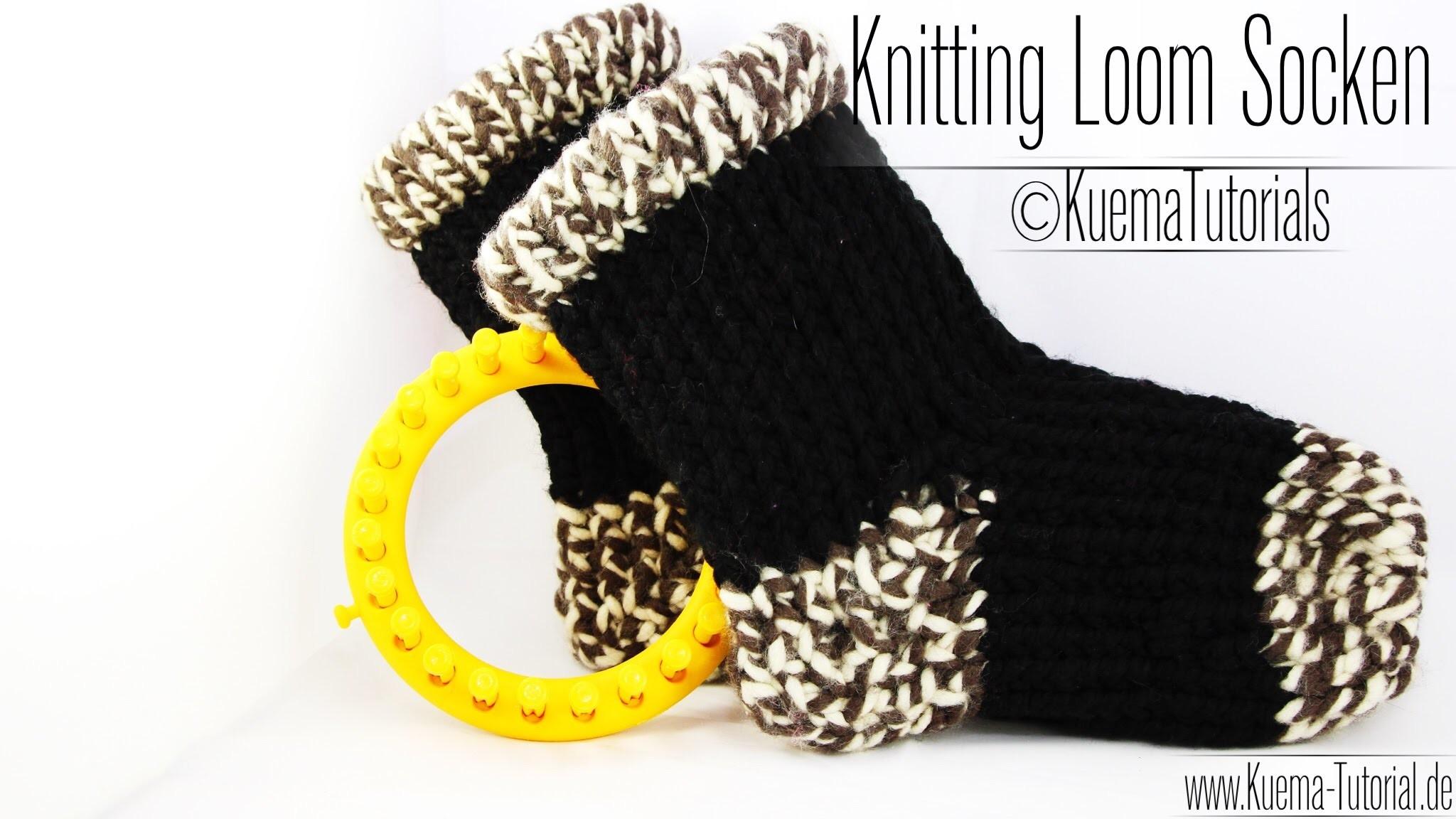 Knitting Loom   Kuschelsocke