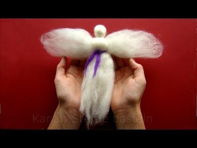 Bastelideen Weihnachten: Engel basteln mit Wolle - Weihnachtsbasteln mit Kindern