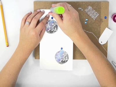 Karte selber basteln - Weihnachtskarte basteln mit Kindern