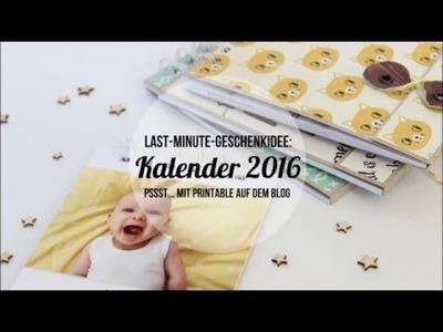 Last-Minute-Geschenk: Ein Fotokalender für 2016.