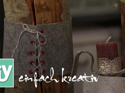 Natürlicher Kerzenständer | DIY einfach kreativ