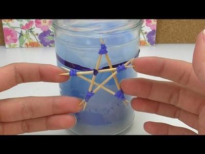 DIY Mini-Stern aus Zahnstochern | Weihnachtsbaum Schmuck selber machen | Sterne Basteln Loom Bands