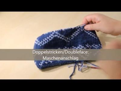 Doubleface stricken - verständlich erklärt - Maschenanschlag