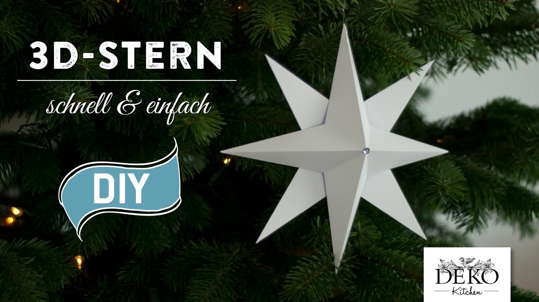 Sterne basteln - 3D Weihnachtsstern einfach & schnell How-to   Deko Kitchen