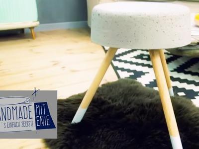 Stylischer grauer Hocker | Handmade mit Enie - Mach's einfach selbst | sixx