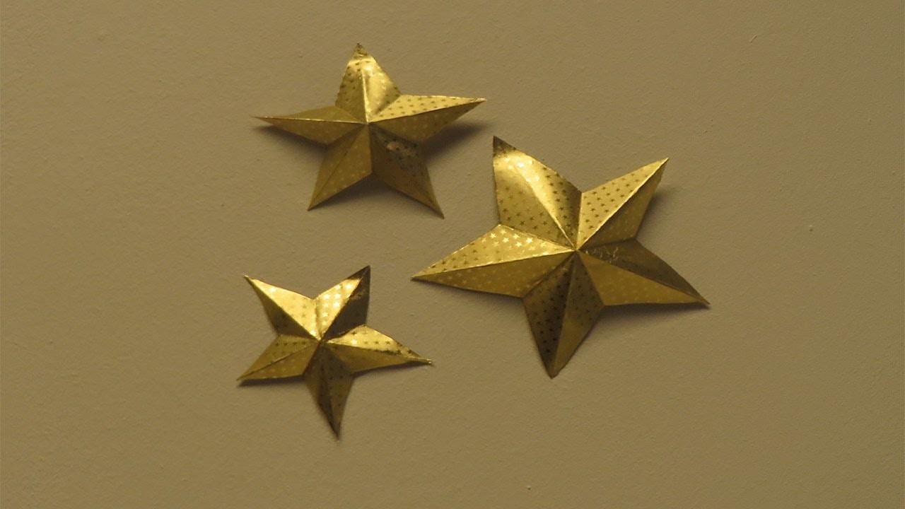 Fünfzackigen Stern für die Deko basteln ★ Flora-Shop