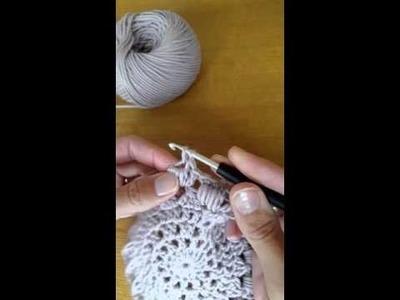 Kreisweste CROCHETALONG Puff Stitch häkeln