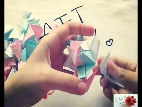 Origami Star Box falten   Weihnachtsdeko Stern   Aufbewahrung für Süßigkeiten   3D Origami
