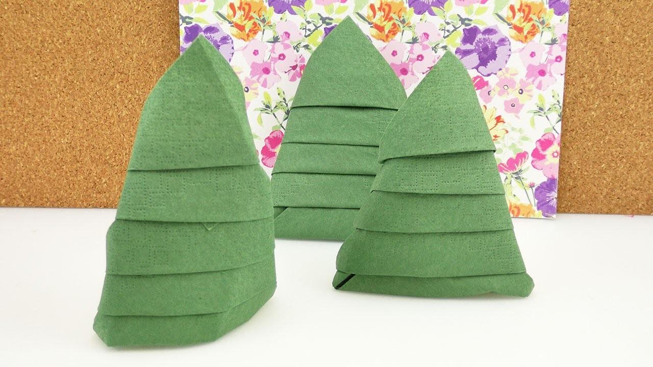 Serviette Falten Fur Weihnachten Tannenbaum Servietten Tolle