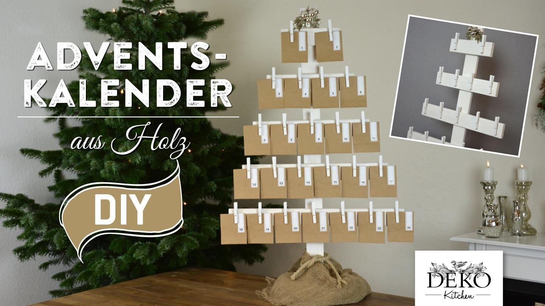 Adventskalender basteln – großer Adventskalender aus Holz How-to | Deko Kitchen
