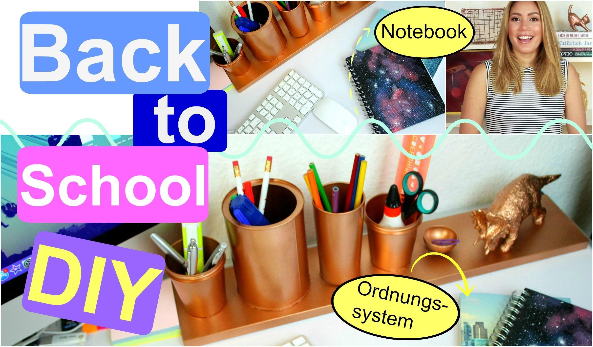BACK TO SCHOOL DIY - Galaxy Notebook. Ordnungssystem | funnypilgrim