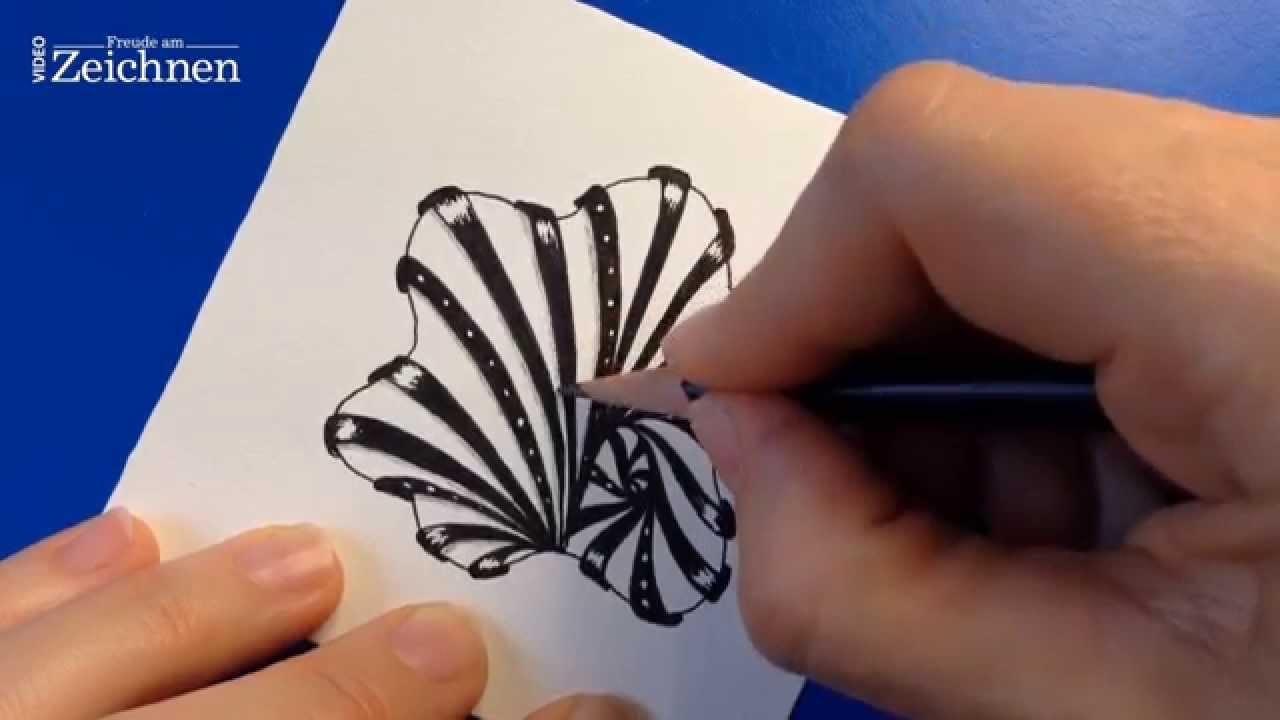 """Das Zentangle-Muster """"Aquafleur"""" (aus """"Der große Zentangle Video-Workshop mit Anya Lothrop"""")"""