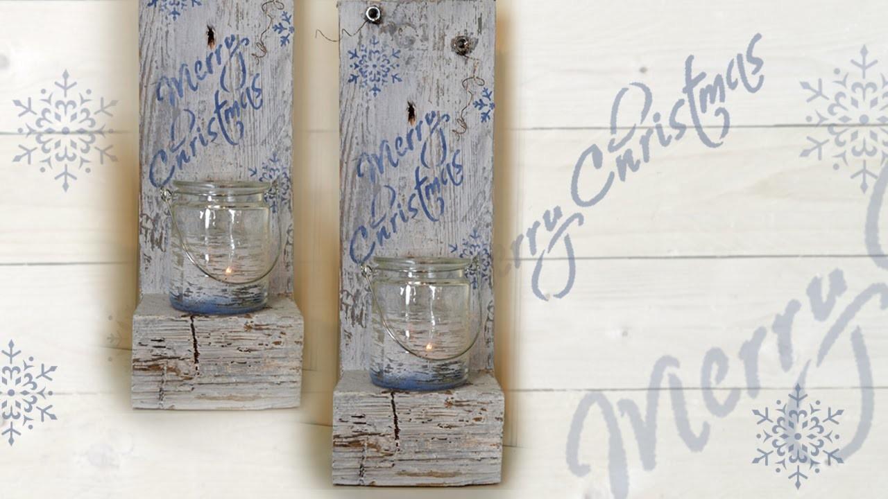 DIY Kerzenhalter. Candle Holder aus einer Europalette