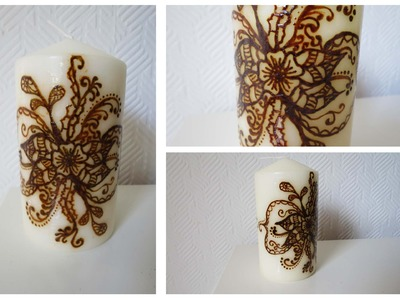 Kerze mit Henna bemalen #2 * Henna Candle