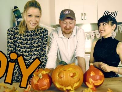 DIY | Halloween-Kürbisse (mit Doktor Allwissend & Die Klugscheisserin)