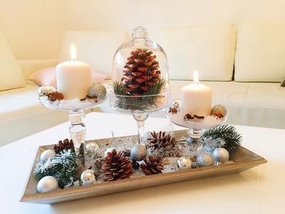 DIY Winterdeko für das Wohnzimmer. Winter Dekoration