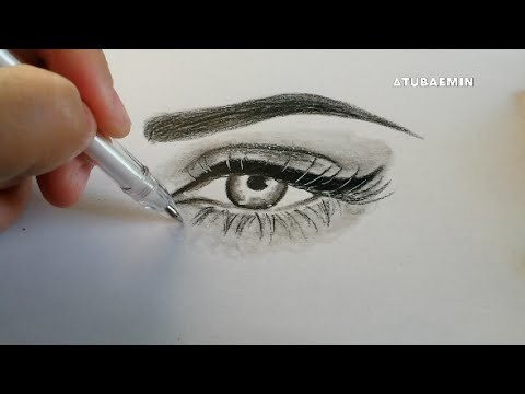 How to draw a eye realistic makeup eye Tutorial