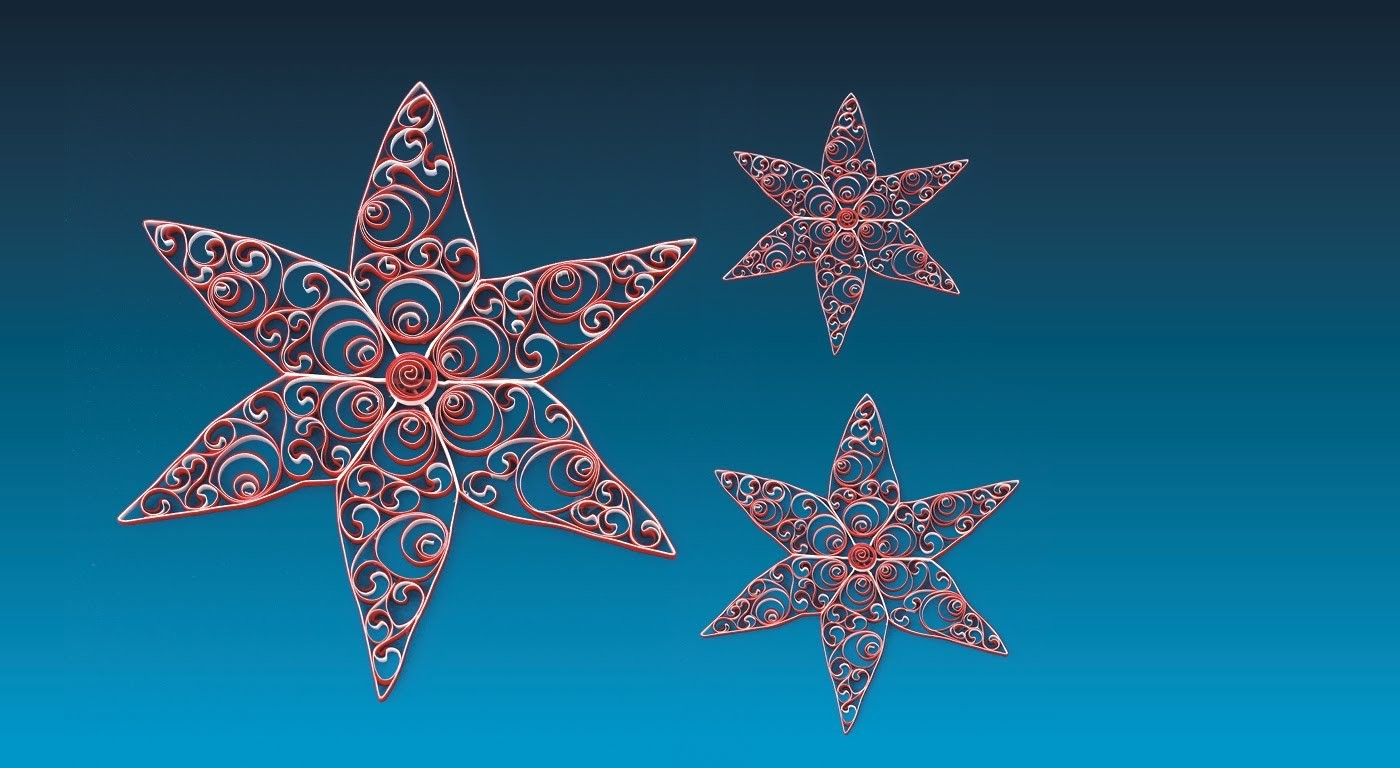Quilling Star 14 - The Star of Søndervig