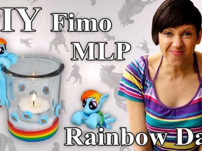 FIMO My Little Pony: Rainbow Dash Cane - Tutorial [HD.DE] (EN-Sub)