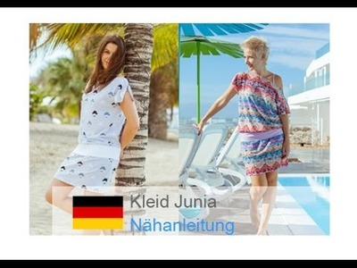 """Kleid. Jerseykleid. einfaches Kleid. Strandkleid selber nähen """"JUNIA"""" - für Nähanfänger"""